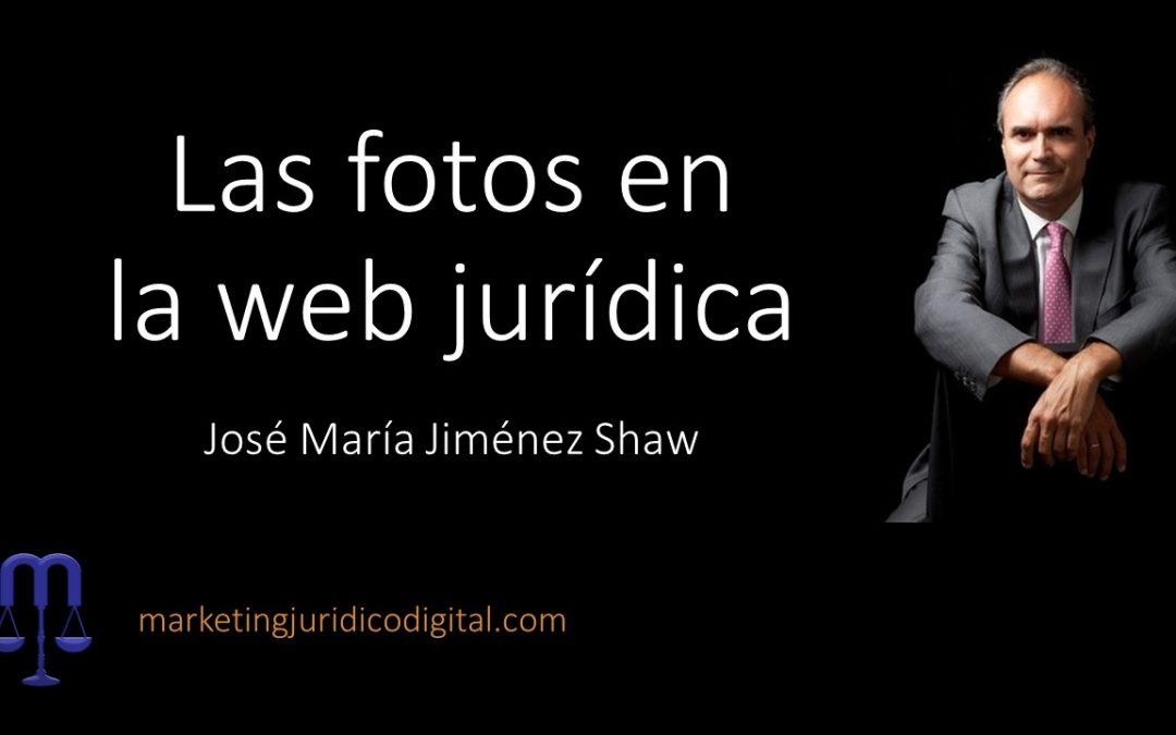 Las fotos en la web jurídica
