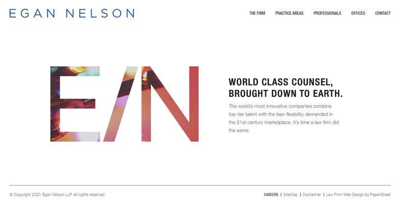mejores webs abogados Egan Nelson