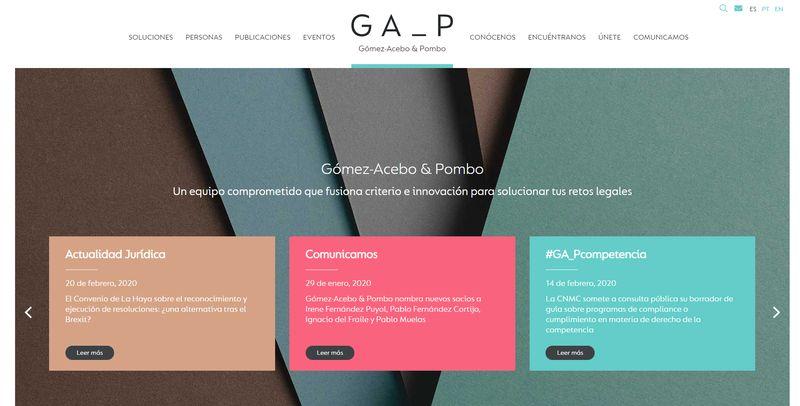 mejores webs abogados Gómez-Acebo & Pombo