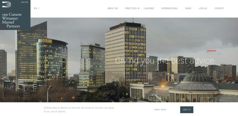mejores webs abogados Van Cutsem Wittamer Marnef & Partners